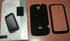 Tech21 D30 Black rubberized Gel Skin for T-Mobile myTouch Q, Black Matte finish