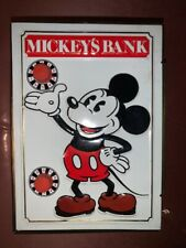 New listing Vintage Disney Mickey Mouse Metal Coin Bank Safe Tin West Germany Fricke & Nacke