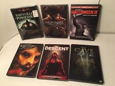 Lot Of 6 DVD Movies Horror Halloween Descent Nightmare On Elm Auction Finds 702