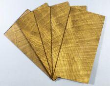 ONE Guitar Veneer Sheet Headplate Flame Golden Phoebe Wood Headstock For Luthier
