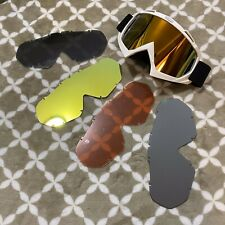 Motocross Goggles, Off-road Down Hill Dirt Bike Mtb Atv, With 4 Extra Lens
