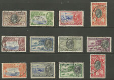 CAYMAN ISLANDS SG96-107 THE 1935 GV CENT SET OF 12 VERY FINE  USED  CAT £200