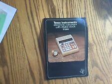 Vtg Texas Instruments Electronic Calculator W Digital Clock Ti-3510 Works