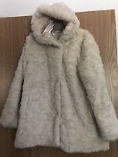 Girls Super soft Faux Fur Coat In Winter White  Age 9-10