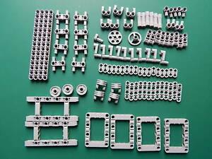 99 New Genuine Light bluish grey Lego Technic Studless beams liftarms connectors