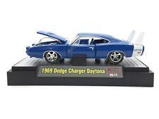 M2 Machines Detroit Muscle 1969 69 Dodge Charger Daytona Blue Die Cast 1/64