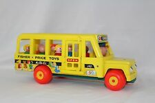 Vintage Fisher Price Little People School Bus with Wooden People 1965 192