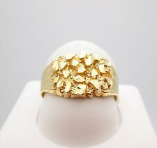 Men's 10K Yellow Gold Thin Nugget Ring 2.8 g