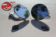 Ford Chevy Chrysler Dodge Plymouth 4 Curved Arm Peep Mirrors Hot Rat Street Rod Fits 1960 Valiant