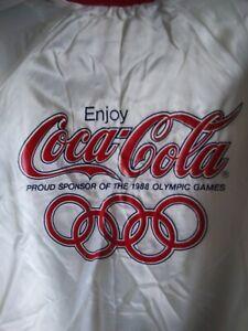 Rare Vintage CHALK LINE Seoul 1988 Olympic Games Coca Cola Satin Jacket SZ S/M