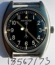 British Military Hamilton W10 Army Navy RAF Vintage Mechanical Watch Serviced