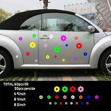Car 40 flowers multi color Door Decals for Beetle Vinyl Stickers #1002