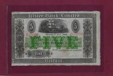 Ireland Northern Ulster Bank Limited 5 Pounds 1940 P-316a  VF