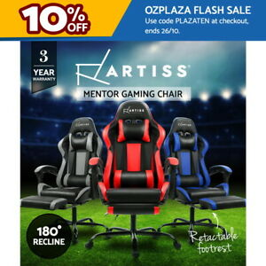 Artiss Gaming Chair Office Computer Chairs Executive Racing Footrest Recliner
