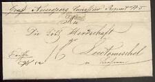 ÖSTERREICH 1834 VORPHILABRIEF von BRÜNN nach LEUTOMISCHEL MILITARIA(D0845