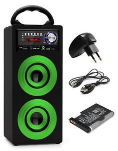 Haut Parleur Portable Enceinte Bluetooth Systeme Mp3 USB SD Aux FM UKW Set Vert