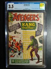 """AVENGERS #8 CGC 3.5 """"OW-W"""" MINT NEW CASE / 1ST APP OF KANG THE CONQUEROR!"""
