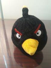 "Angry Birds Black Bomb Bird Plush 6"" Stuffed Toy 2010 Commonwealth"
