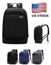 Mens Anti-theft Lock USB Charging Travel Backpack 15.6'' Laptop School Book Bag