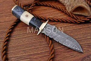 Damast Messer Damaszener Stahl Jagd Knife Damascus Hunting Bowie 706EA