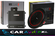 "MB QUART 12"" SUBWOOFER AND 2CH AMP PACKAGE AMAZING QUALITY CAR AUDIO DEAL"
