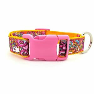 Adjustable Dog Collar - Peace Doves