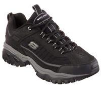 Skechers Black shoes Men Sport Casual Comfort Leather Sneaker Memory Foam 50172