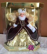 Mattel Happy Holidays Special Edition Barbie 1996 NMIP maroon velvet gold dress