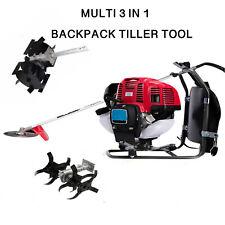 52cc Backpack 2 stroke 3 in 1 cutter saw tiller grass hedge trimmer cultivator