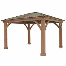 Yardistry 12' x 14' Cedar Gazebo With Aluminum Roof
