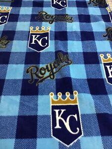 KC Kansas City Royals Fleece Blanket 60 X 72 Big Size  Blue