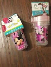 DISNEY Baby/Kids MINNIE 6 Reusable 10 oz SIPPY CUPS~BPA Free~bonus travel cap