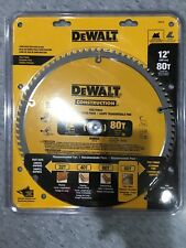 "DeWalt DW3128 Series 20 12"" 80 Tooth Thin Kerf Miter Saw Blade 1"" Arbor"