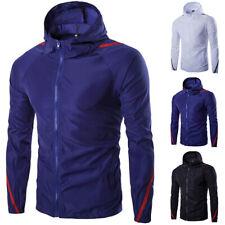 Men's Hooded Lightweight Windbreaker Windproof Outdoor Rain Jacket Hoodie Coat