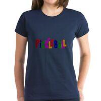 CafePress Pickleball Letters Art T Shirt Women's Cotton T-Shirt (1614909576)
