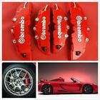 4pcs Front & Rear Universal Red 3D Brembo Style Car Disc Brake Caliper Covers Alfa Romeo 147