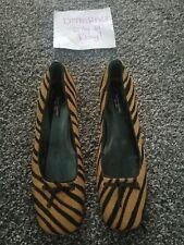 Kate Spade Calf Hair Zebra Design Block Heel Shoes  Size 6.5 💟
