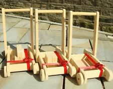 Baby Walker Real Wood With / Without Building Blocks Brand New Beautifully Made