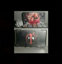 Nintendo 3DS XL Black - Deadpool Skin + Protective Cover + Screen Cover + Games