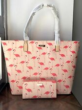 NWT Kate Spade FLAMINGO Shore Street Stacy Wallet And Margareta Lg Tote Bag $427