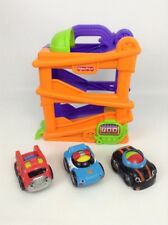 Fisher Price Lil Zoomers Lot Plastic Toddler Toy Chase Car Ramp Ball Rattle (L1)