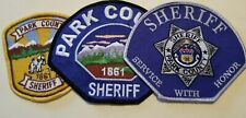 Park County (Fairplay, CO) Sheriff's Office Patches - Set of 3
