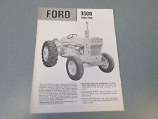 Ford 3500 Tractor Brochure                       lw