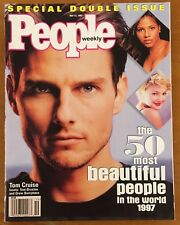 """TOM CRUISE, TONI BRAXTON, DREW BARRYMORE, ON COVER OF """"PEOPLE"""" MAGAZINE,5-12-97"""