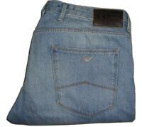 Mens AJ Armani J06 'Fitted' Slim Fit Light Blue Denim Jeans W36 L30