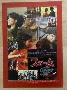 FAME (1980) - JAPAN Movie Chirashi/Mini-Poster/Flyer - RARE! BONUS! ALAN PARKER!