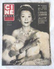 CINE-REVUE 20 juin 1952 EDWIGE FEUILLERE FERNANDEL FRANCOISE ARNOUL BOURVIL