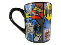 New DC Comics Batman Comic 14 oz Ceramic Coffee Mug Cup Black & Red