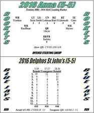 2016 Ohio High School Football Season Solitaire Board/Card Stats Game (MAC)
