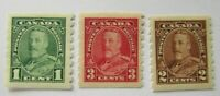 1935 Canada SC #228-230  KING GEORGE V   MH  stamps